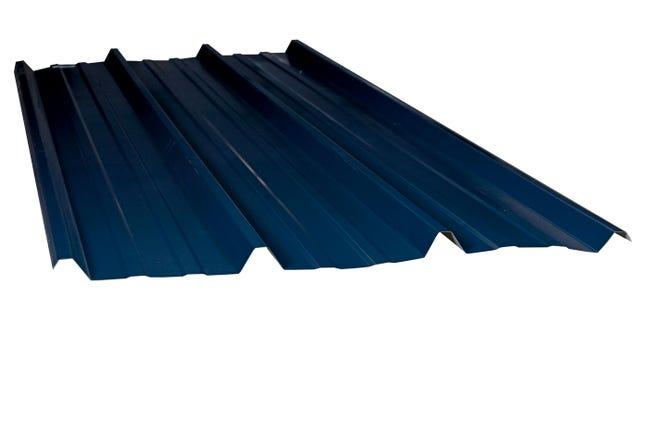 Plaque De Toiture Nervuree Acier Galvanise Bleu L 1 05 X L 3 M Ondometal Leroy Merlin