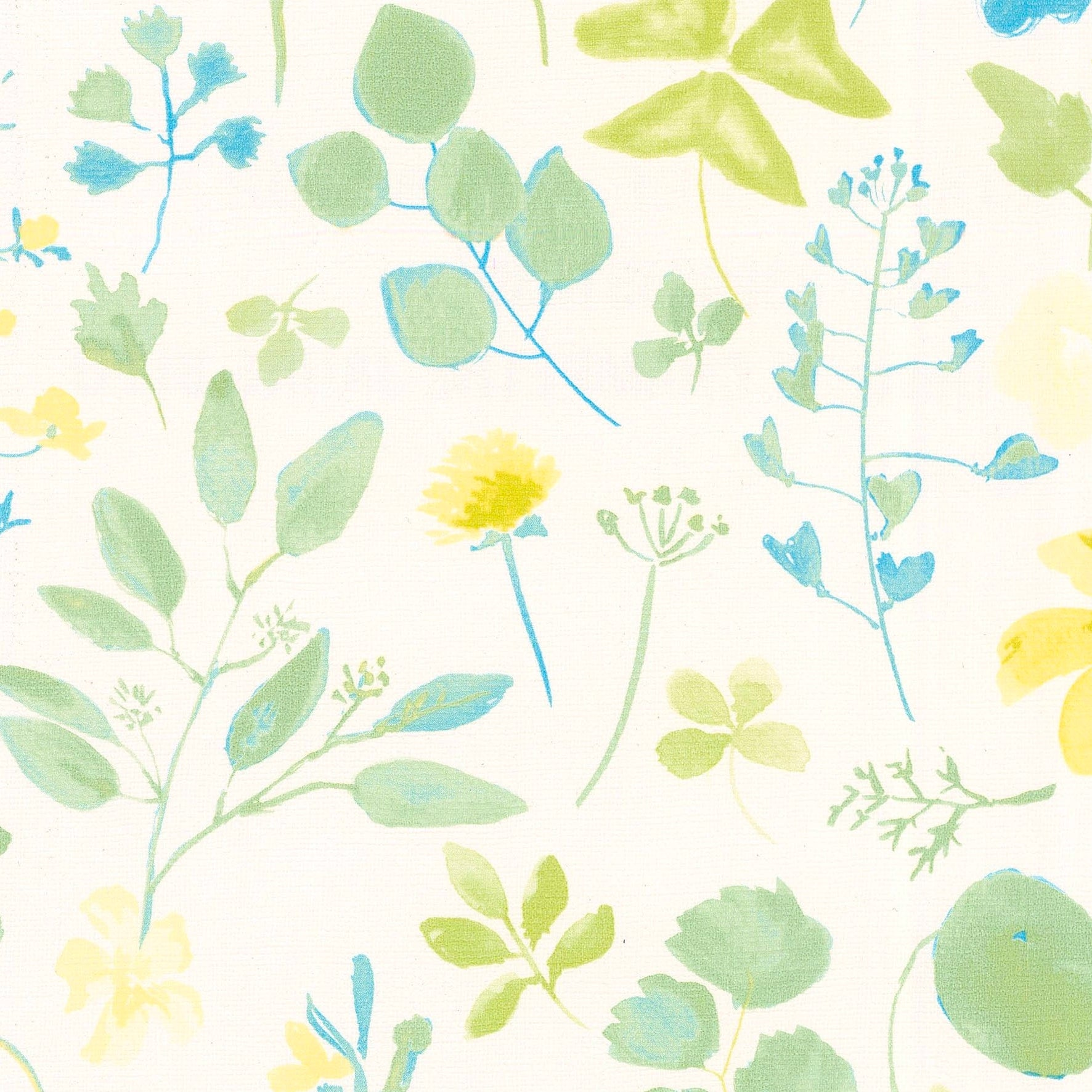 Papier peint intissé CUISINE & BAINS champêtre jaune bleu