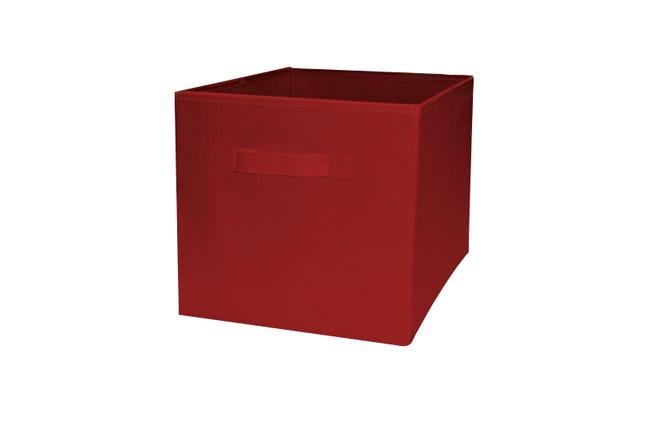 Panier de rangement pliable polypropylène COMPACTOR rouge H.31 x l.31 x P.31 cm | Leroy Merlin