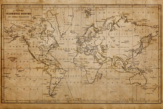 Verre Imprime World Map 3 Artis L 65 X H 45 Cm Leroy Merlin