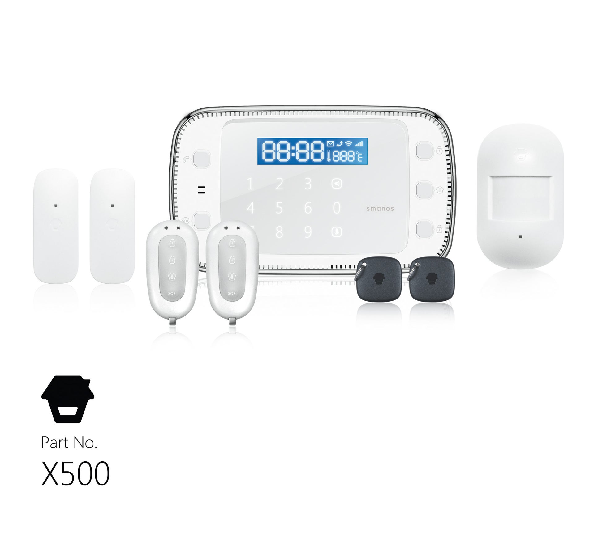 Alarme Maison Sans Fil Connectee Smanos X500 Leroy Merlin