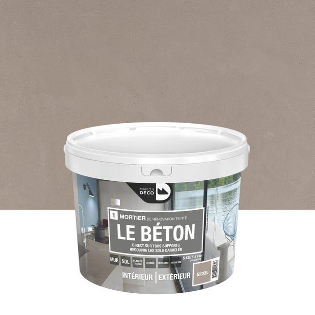 Enduit Decoratif Le Beton Maison Deco Nickel 5 Kg Leroy Merlin