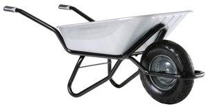 Brouette acier galvanisé Clipso excellium roue gonflée HAEMMERLIN, 100 l