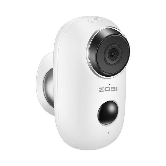 Camera Ip Interieure Exterieure De Surveillance Zosi Connectee Sans Fil Blanc Leroy Merlin