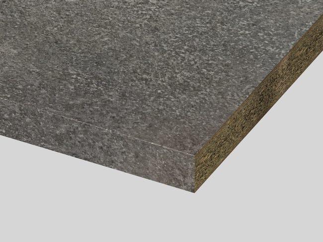 Plan De Travail Stratifie Imit Granit Taupe Mat L 315 X P 65 Cm