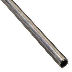 Image : Tube rond acier brut noir, L.1 m x l.1 cm x H.1 cm x Diam.10 mm