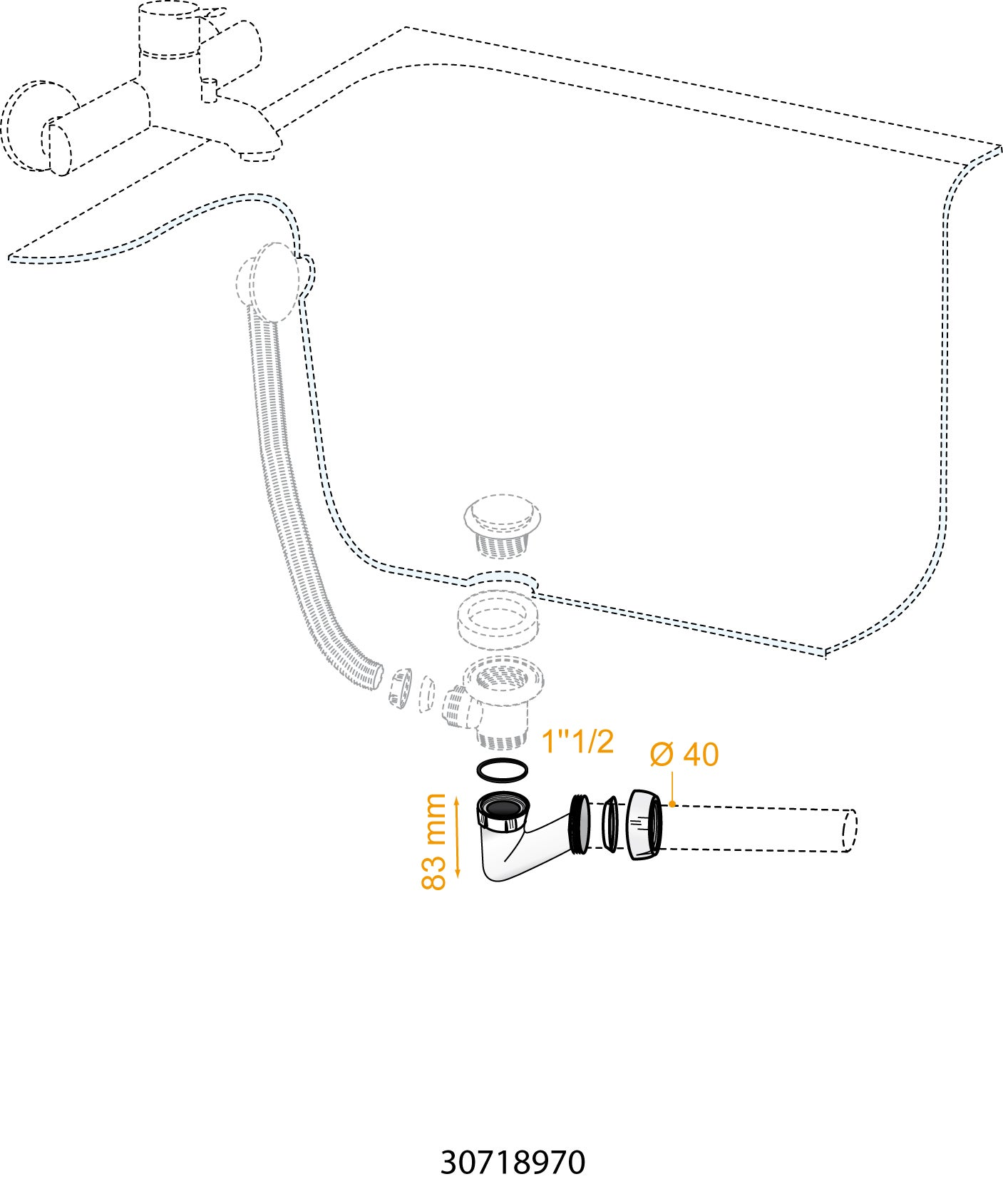 Siphon Baignoire Extra Plat Wirquin Leroy Merlin