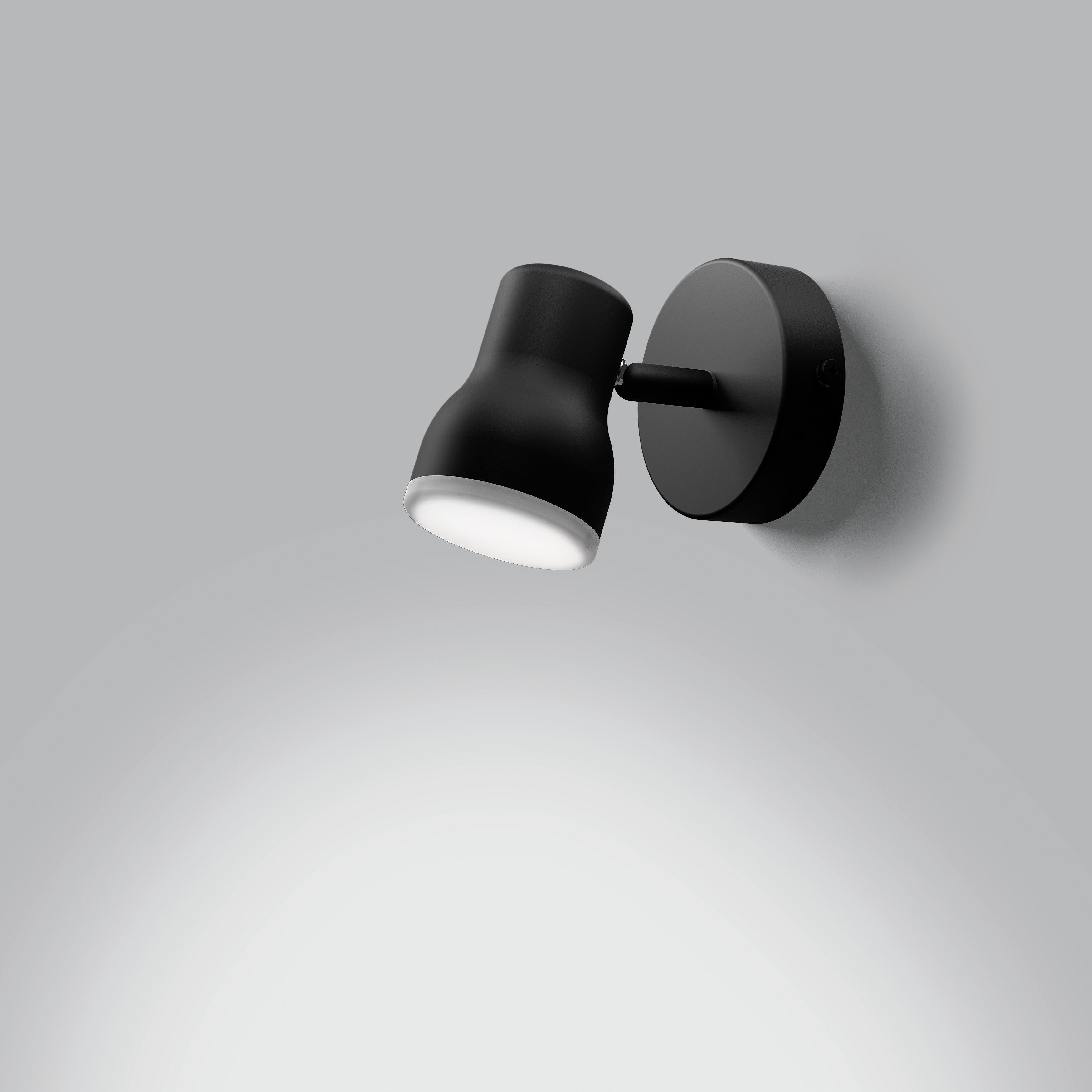 Spot Essentiel Plastique Noir Lumiplus Leroy Merlin