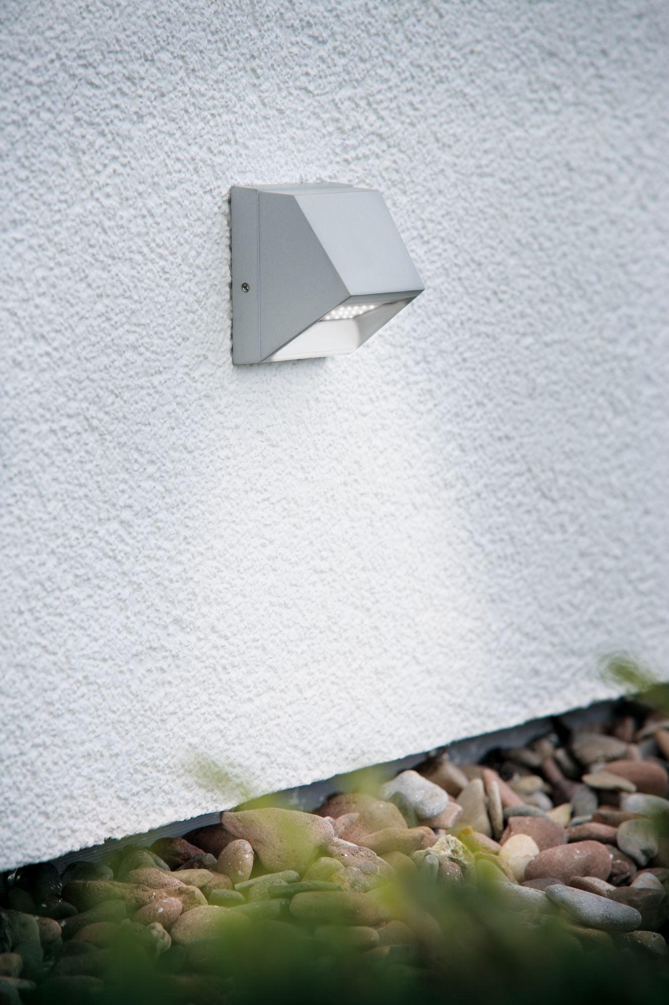 Spot Exterieur Led Integree 29 Lm Gris Saillie Ip44 Mural Paulmann Leroy Merlin