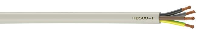 câble électrique 4 g 15 mm² ho5vvf l5 m blanc  leroy