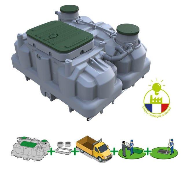 Pack Assainissement Non Collectif Ecoflo 5 Eh Sortie Haute Pompe De Relevage Leroy Merlin