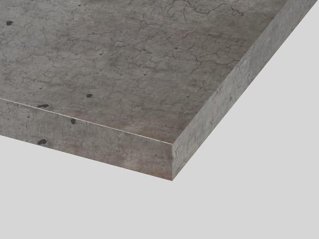 Plan Ilot Stratifie Beton Brut Mat L 126 X P 104 Cm Ep 38 Mm Leroy Merlin