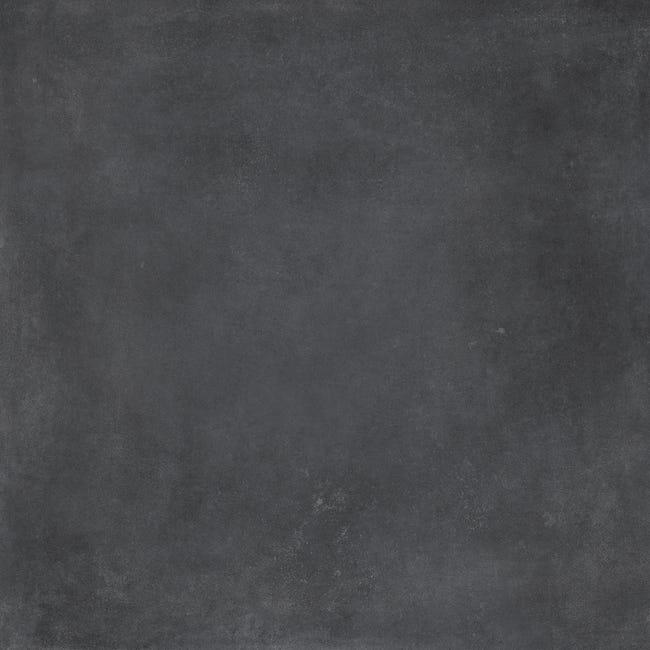 Dalle Exterieure Effet Carreau De Ciment Noir Gatsby L 60 4 X L 60 4 Cm Leroy Merlin