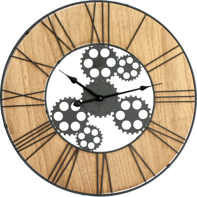 Horloge Metal Indus Beige Diam 50 Cm Leroy Merlin