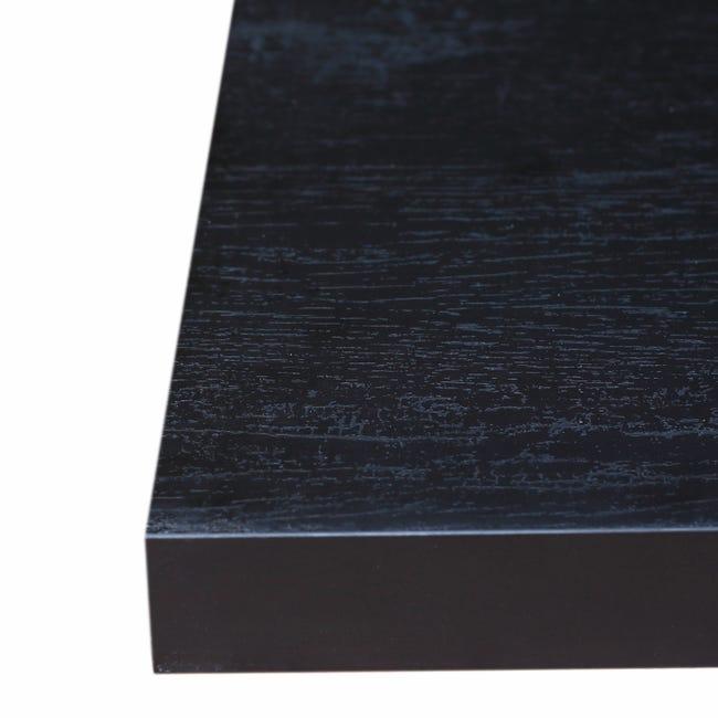 plan snack stratifie effet bois brule mat l 200 x p 40 cm ep 38 mm