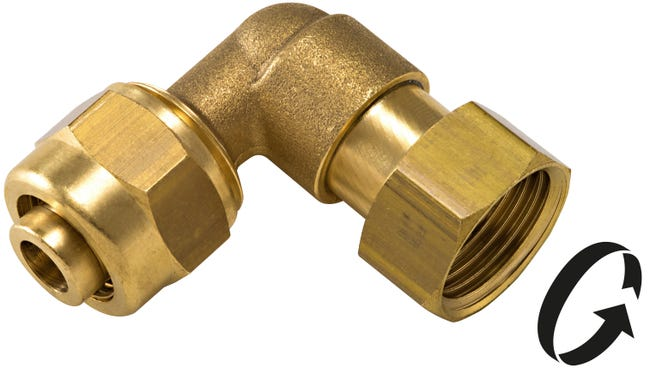 Raccord Coude 90 A Compression Laiton F 15 X 21 Pour Tube En Per Leroy Merlin