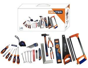 Image : Boîte à outils de mécanicien 45 pièces DEXTER