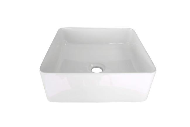 Vasque A Poser Ceramique Fine L 36 X P 36 Cm Blanc Leroy Merlin
