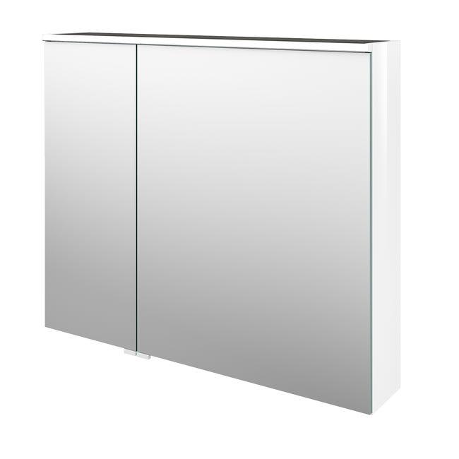 Armoire De Toilette Avec Eclairage Integre L 90 Cm Blanc Sensea Neo Line Leroy Merlin