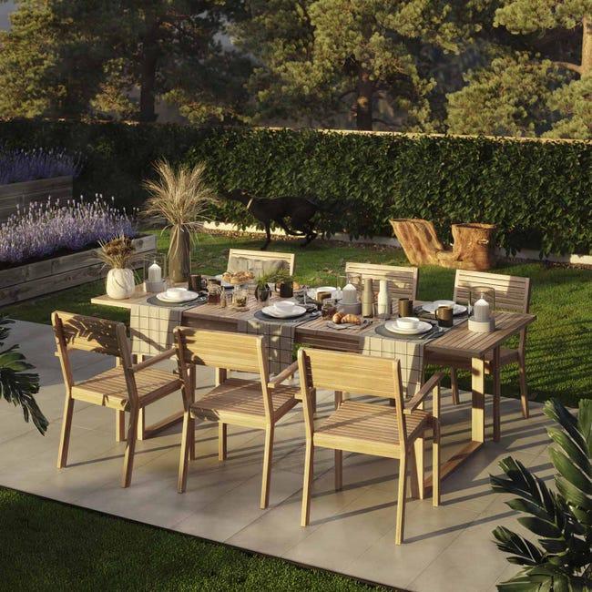 Table De Jardin De Repas Naterial Solaris De 6 A 8 Personnes Leroy Merlin