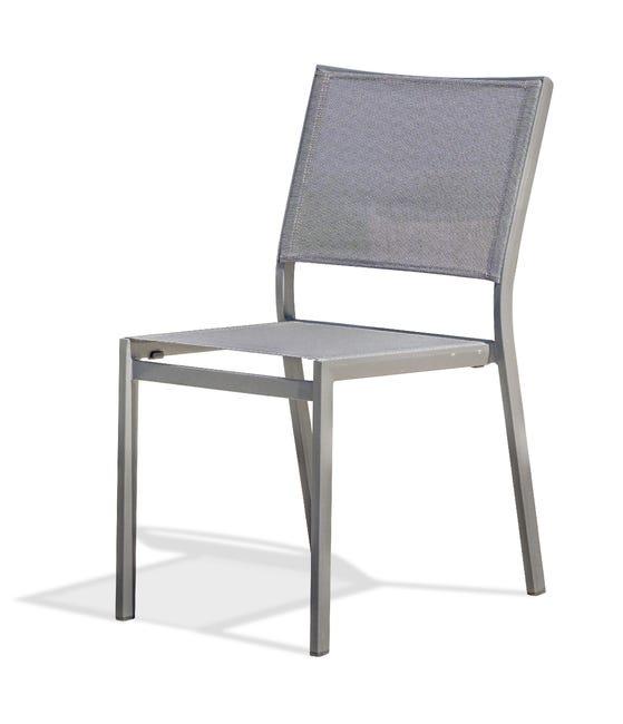 Chaise De Jardin En Aluminium Stockholm Gris Anthracite Leroy Merlin