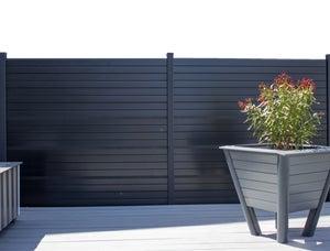kit clôture composite sylway platine h170 x l178 cm