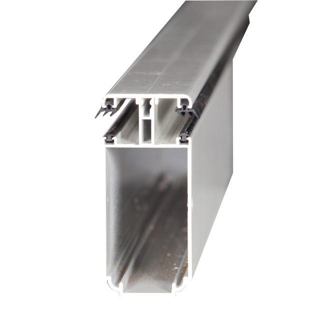 Tube 121 Sur Mesure Jonction Pour Plaque Ep 32 Mm Aluminium L 0 5 M Leroy Merlin