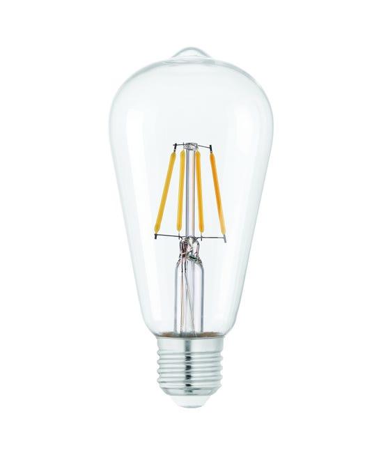 Ampoule Led A Filament Edison E27 470 Lm 40 W Blanc Neutre Eglo Leroy Merlin