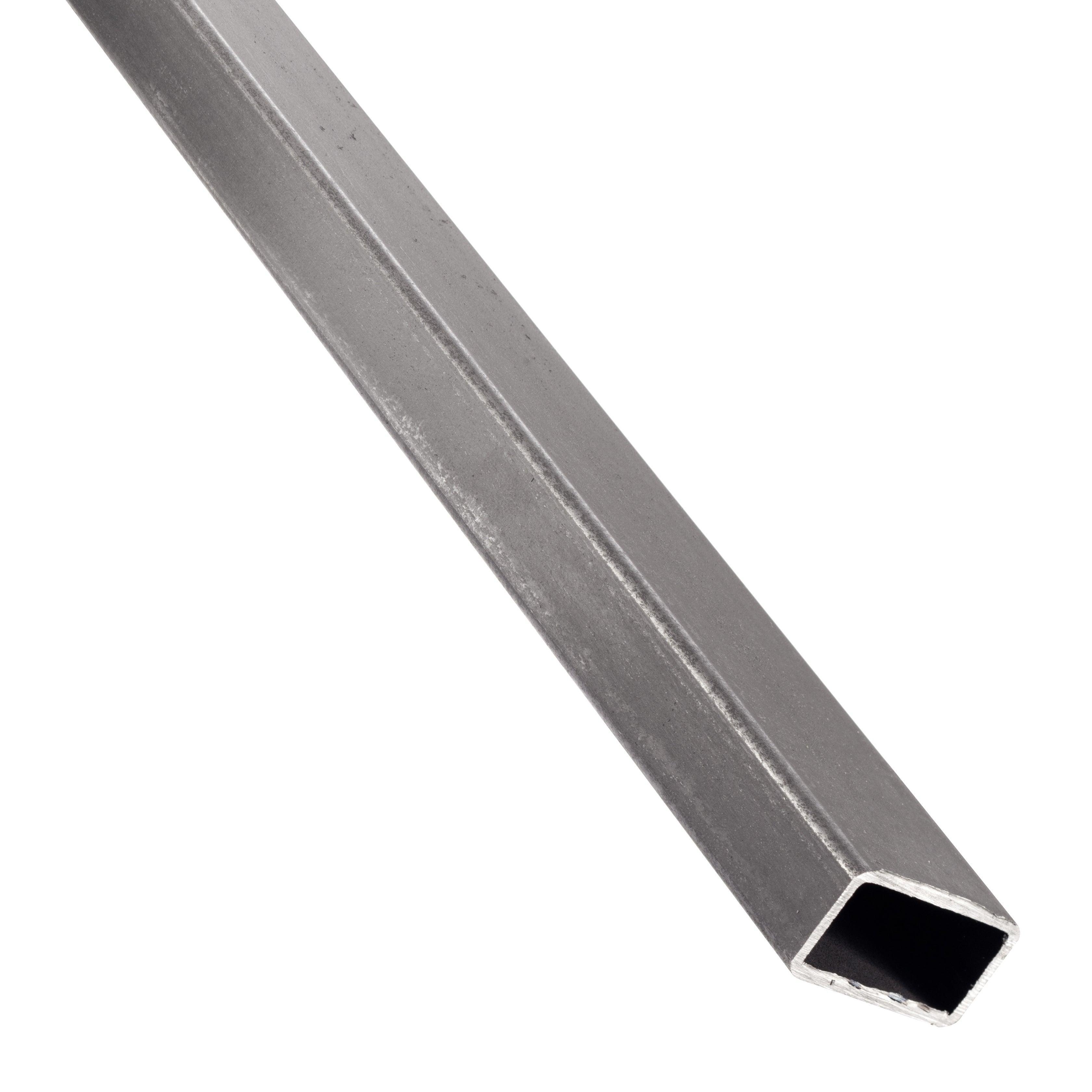tube rectangulaire acier brut noir l 1 m x l 3 5 cm x h 2 cm