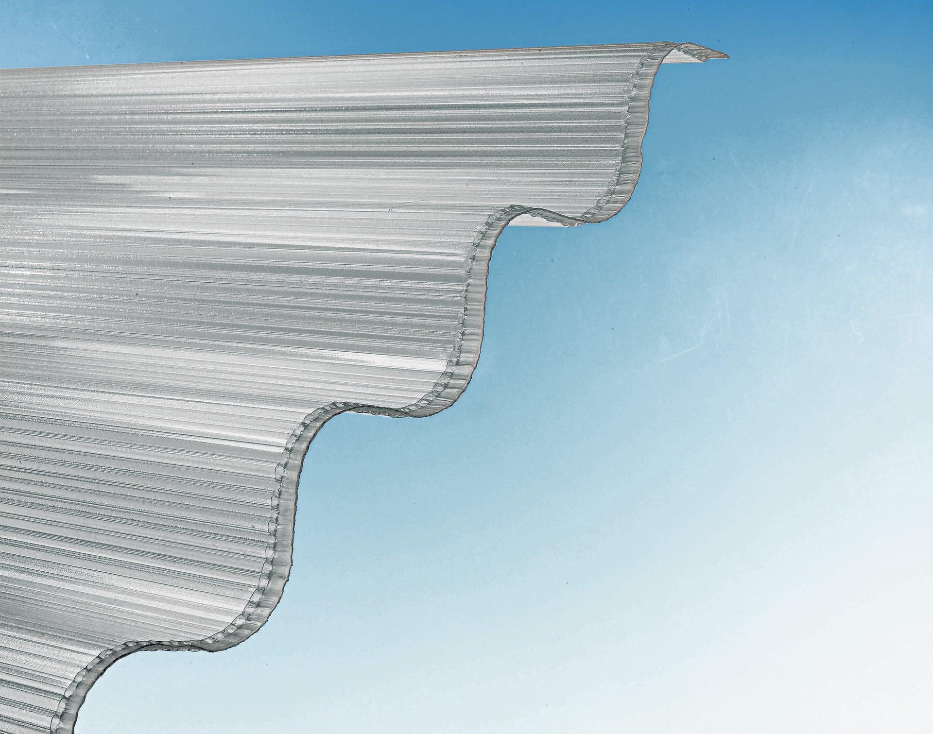 Plaque De Toiture Grande Onde Polycarbonate Translucide L 0 92 X L 2 M Leroy Merlin