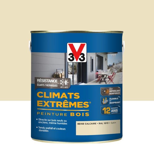Peinture Bois Exterieur Climats Extremes V33 Beige Calcaire Satine 2 5 L Leroy Merlin