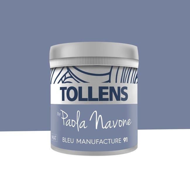 Testeur Peinture Bleu Manufacture N 91 Mat By Paola Navone Tollens 50 Ml Leroy Merlin