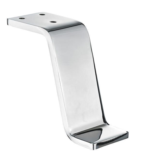 Pied Pour Meuble Table Basse Design Fixe A Visser Acier Chrome 12cm Leroy Merlin