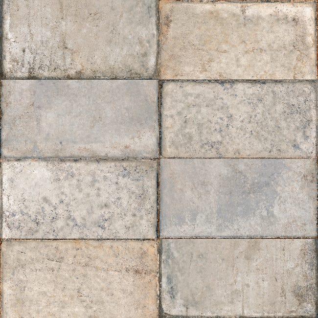 Carrelage Sol Et Mur Effet Pierre Blanc Terre Nuove L 15 X L 30 Cm Sant Agostino Leroy Merlin