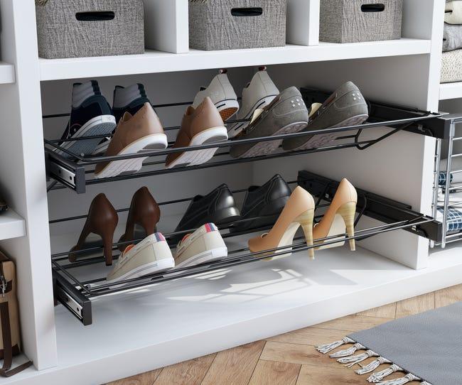 Range-chaussures à poser, 6 paires maximum H.10.6 x l.76.8 cm