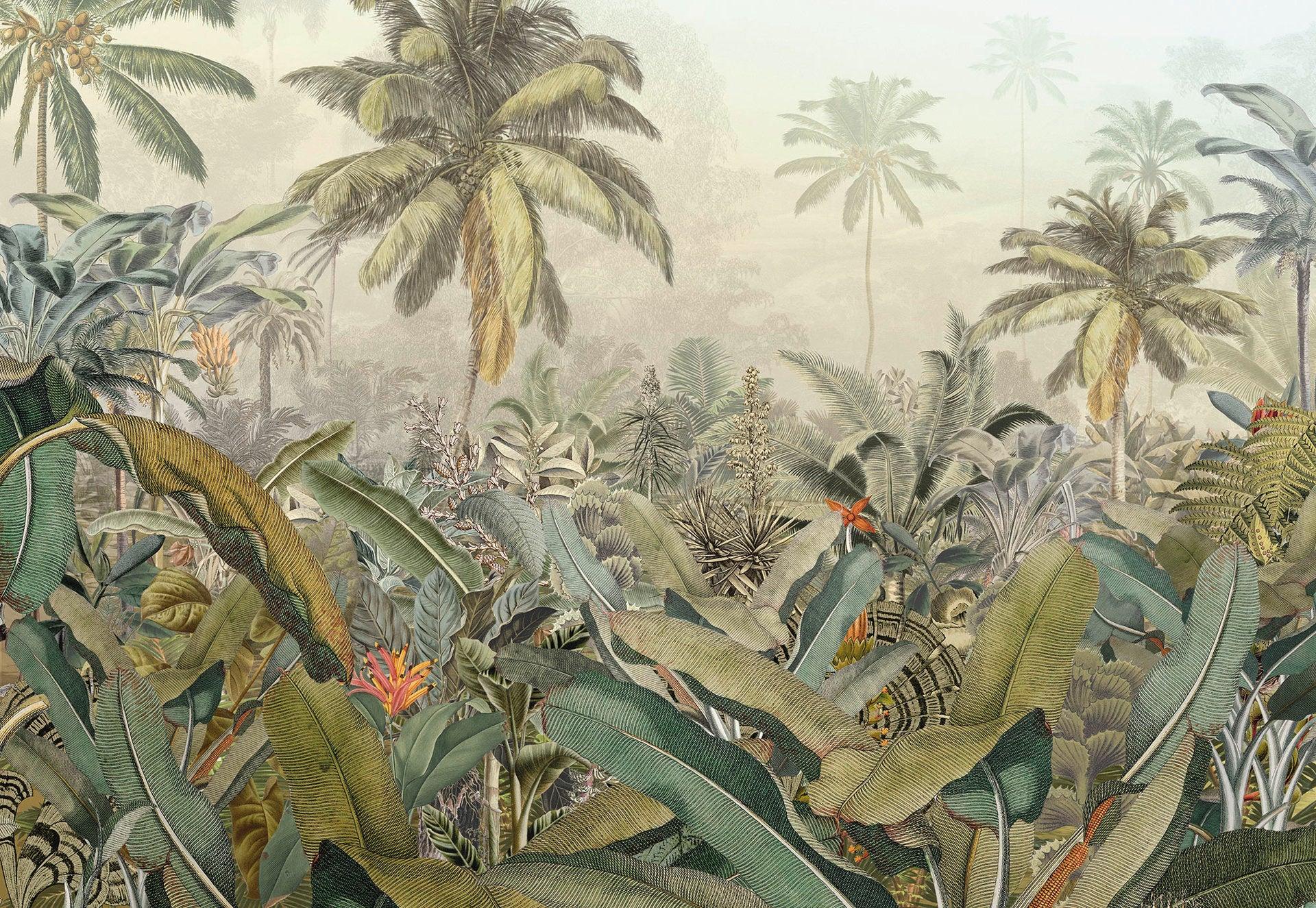 Papier peint panoramique Amazonia beige, vert KOMAR l.368.0 x H.248 cm