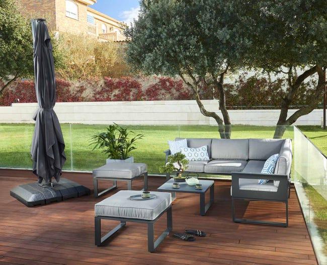 Salon Bas De Jardin Naterial Odyssea Aluminium 6 Personnes