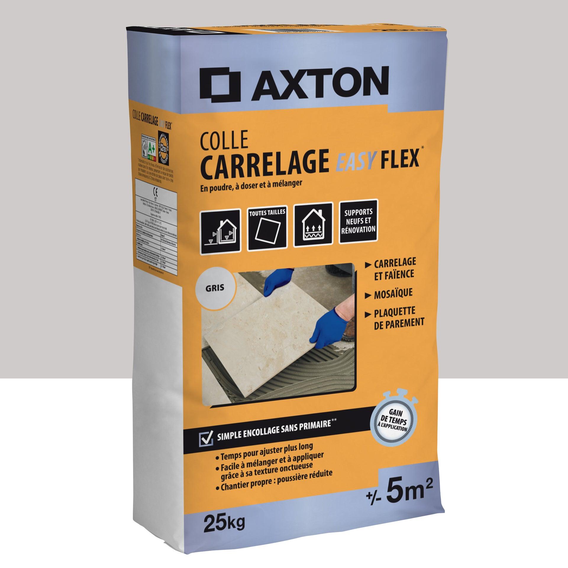 Mortier Colle Poudre Axton Easy Flex Gris 25 Kg 5 M Leroy Merlin