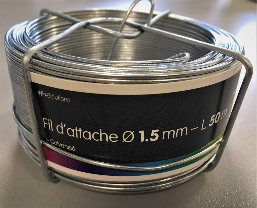 Pösamo Fil Galvanisé 1,1 mm à 50 m sur Bobine