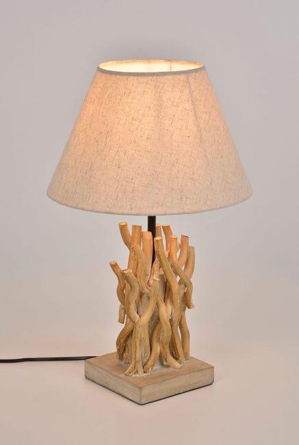 Lampe Bord De Mer Bois Naturel Corep Ferret Leroy Merlin