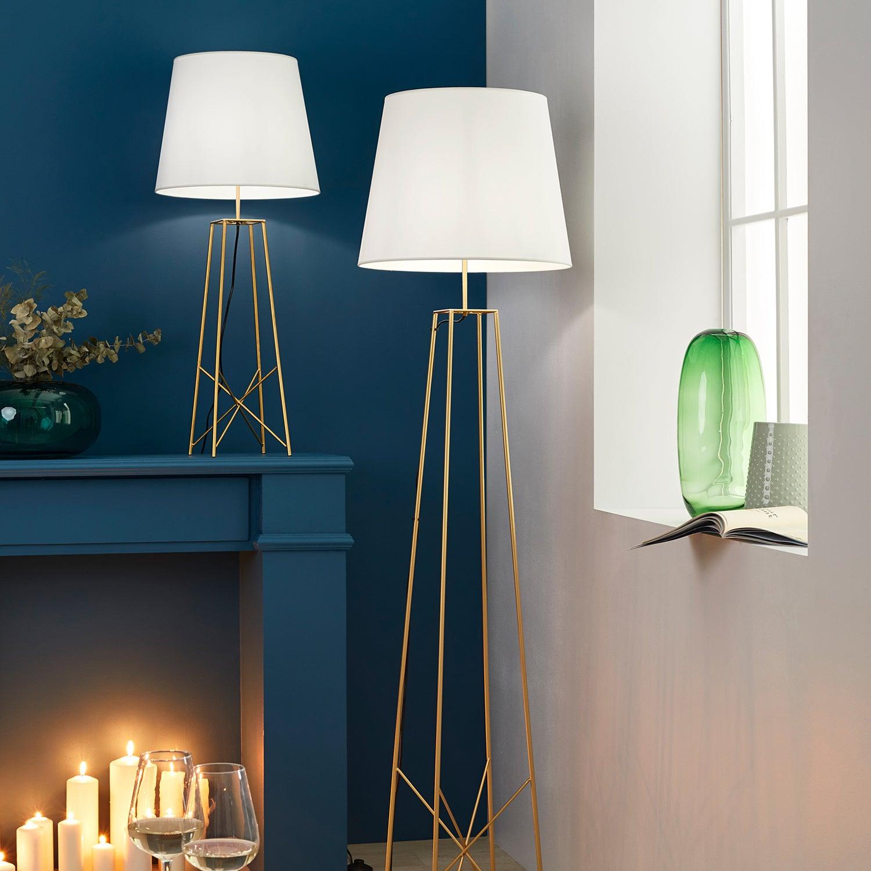 Lampe métal laitonblanc, COREP ETOILE