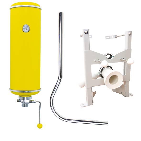 Reservoir Sous Pression Wc Griffon Pack Hydrochasse Bati Support Jaune Pop Leroy Merlin