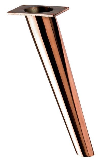 Pied Pour Meuble De Table Basse Design Fixe A Visser Acier Cuivre 27 Cm Leroy Merlin