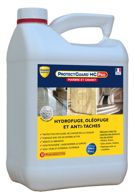 Impermeabilisant Hydrofuge Protectguard Mg Pro 5l Guard Industrie Incolore Leroy Merlin