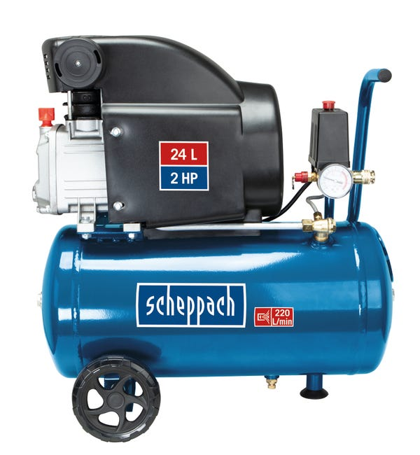 Compresseur D Atelier Scheppach 24 L 2 Cv Hc26 230 V Leroy Merlin