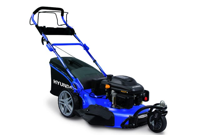 Tondeuse Thermique 3 Roues Hyundai 196 Cm 56 Cm Auto Tractee Leroy Merlin