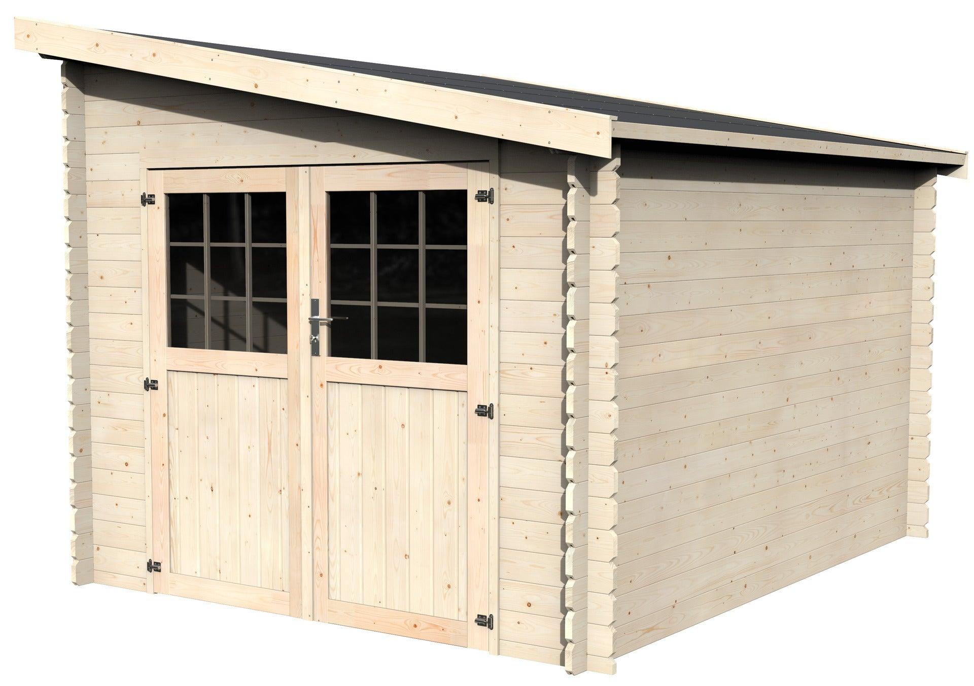 Abri de jardin bois DECOR ET JARDIN Esprit Ep.8 mm, 8.8 m²