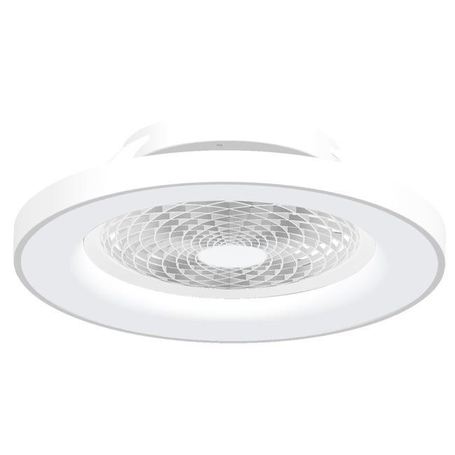 Ventilateur Led Tibet Blanc 70 W Diam 65 Cm Mantra Pales Transparentes Leroy Merlin