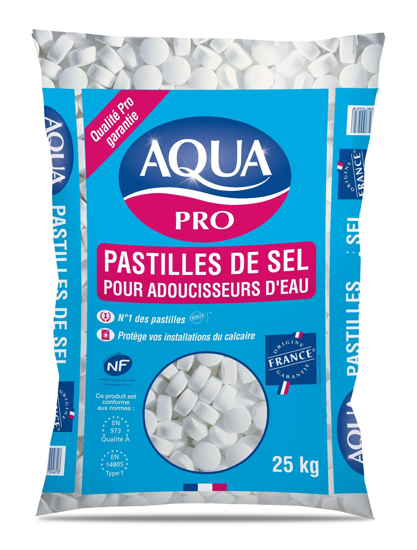 Sel pour adoucisseur 25 kg AQUA | Leroy Merlin