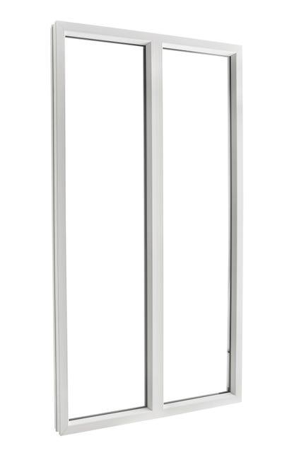 Fenetre Pvc H 215 X L 140 Cm Blanc Blanc 2 Fixe Leroy Merlin